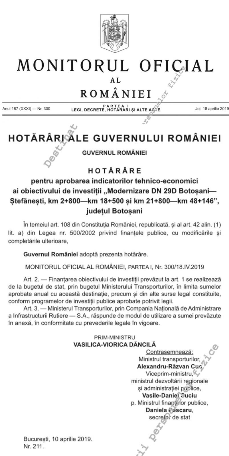 PSD demască ipocrizia PNL și  prezintă dovada clară că drumul Botoșani-Ștefănești a primit finanțare și va fi modernizat datorită Guvernului Dăncilă 26