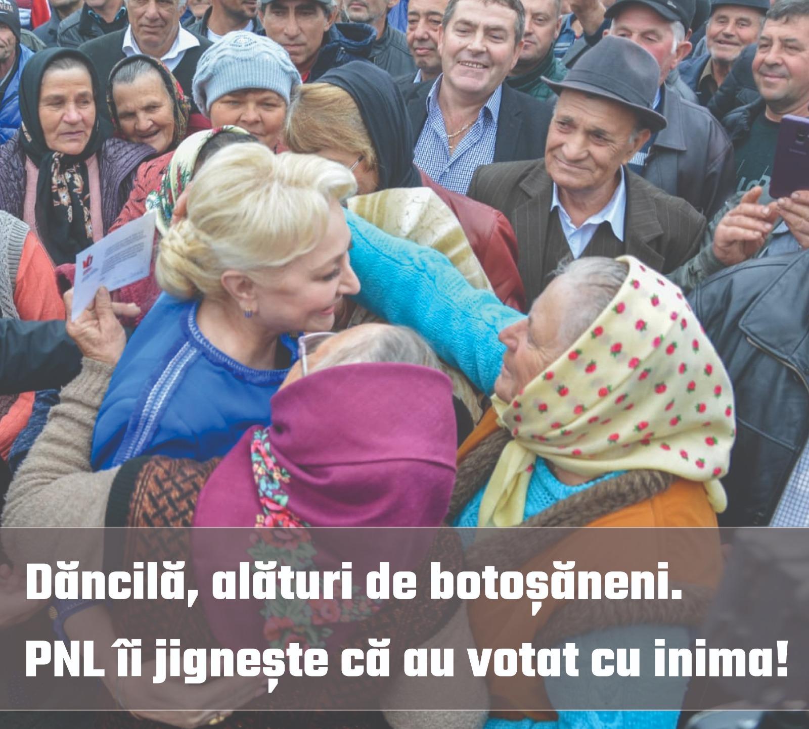 PSD solicită PNL și lui Klaus Iohannis să nu mai jignească botoșănenii care au ales să voteze cu Viorica Dăncilă în turul întâi al alegerilor prezidențiale și care vor susține candidatul PSD în turul doi 28