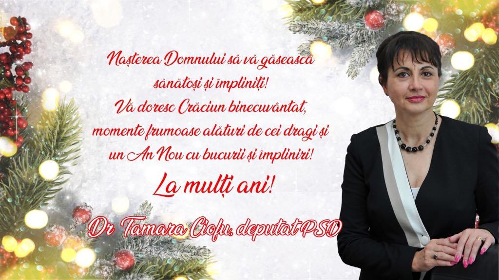Deputatul Tamara Ciofu vrea sănătate și împlinire pentru toți de Crăciun 24