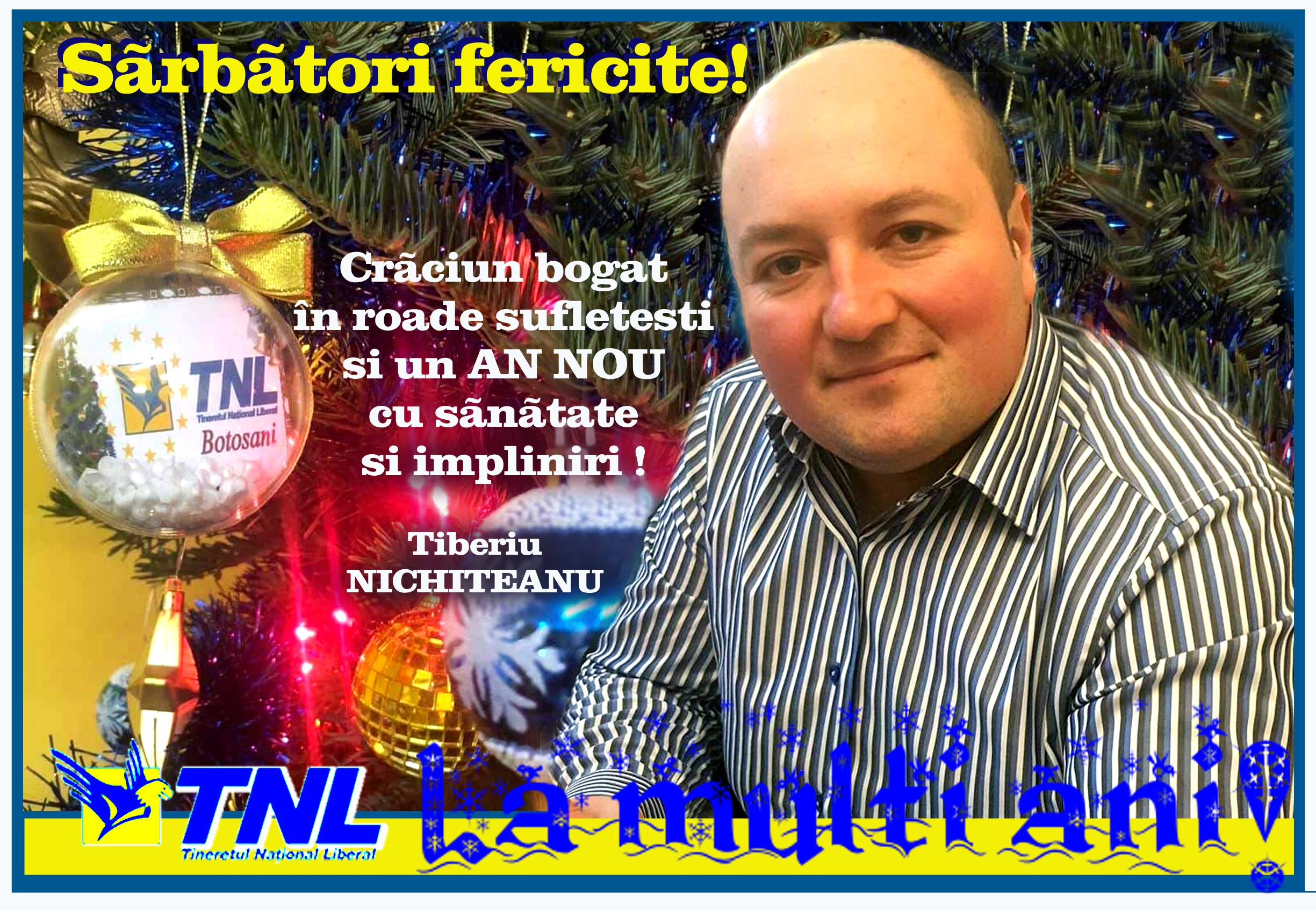 Să ningă cu vise împlinite peste botoșăneni - mesajul liderului TNL 8
