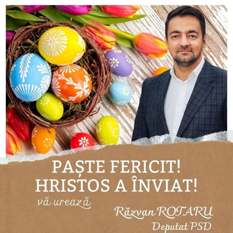 Felicitare Paște deputat Răzvan Rotaru 23