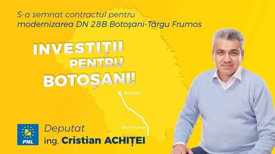 Deputatul Achiței și-a văzut visul cu ochii: drumul Botoșani-Tg. Frumos va fi modernizat. Vezi când vor fi gata lucrările 24